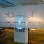 Plotted 3M Frosted Crystal logo for Hyatt