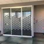 intergated Glass Film to Wall mural pattern
