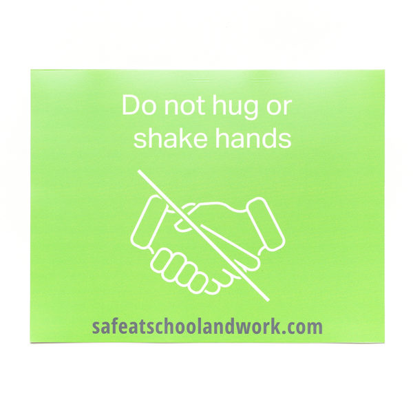 Green general rules wall graphics hands