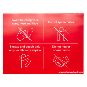 Red General Rules Wall Graphic