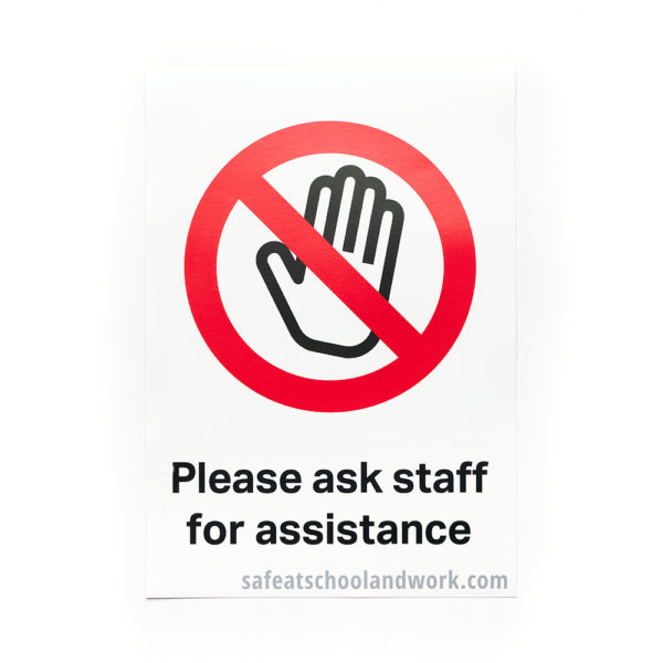 Please Ask Staff For Assistance