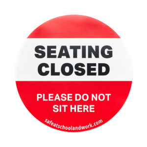 Seating Closed Graphic