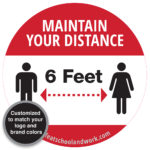 Maintain your distance COVID sign