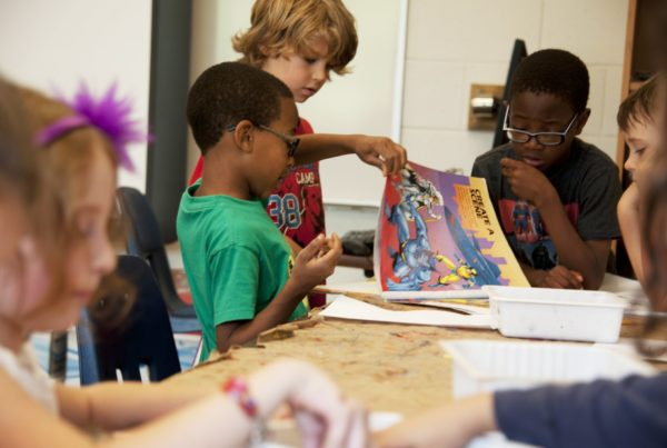 Children in a classroom to illustrate the importance of school safety